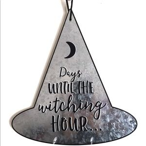 Witch Hat Halloween Wall Key Holder Metal Sign